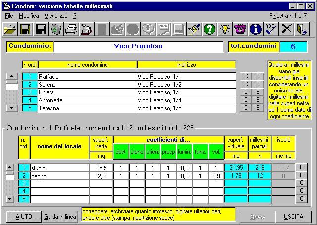 programma calcolo tabelle millesimali gratis da