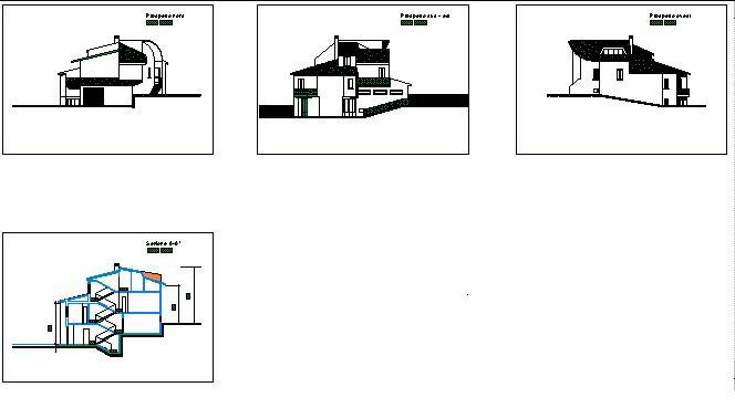 Villini pagina 4 esempi di sezioni e fronti for Software di progettazione di case online